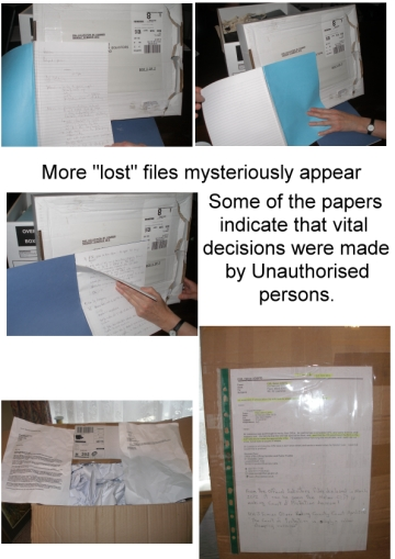 Apparently lost files appear showing unauthorised individuals making key decisions